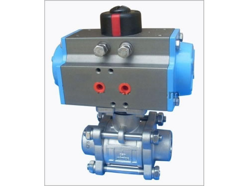 3PC Butt Weld Ball Valve with Pneumatic Actuator