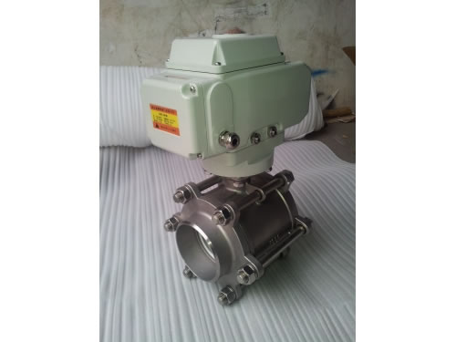 3PC Butt Weld Ball Valve with Electric Actuator
