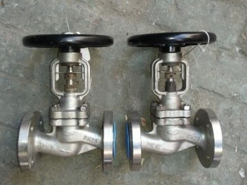 API Flanged Stainless Steel Bellows Seal Globe Valve