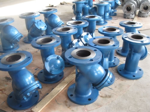 API Cast Steel Flanged Y Strainer